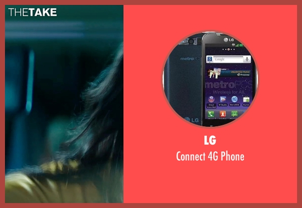 LG phone from Teenage Mutant Ninja Turtles (2014) seen with Megan Fox (April O'Neil)