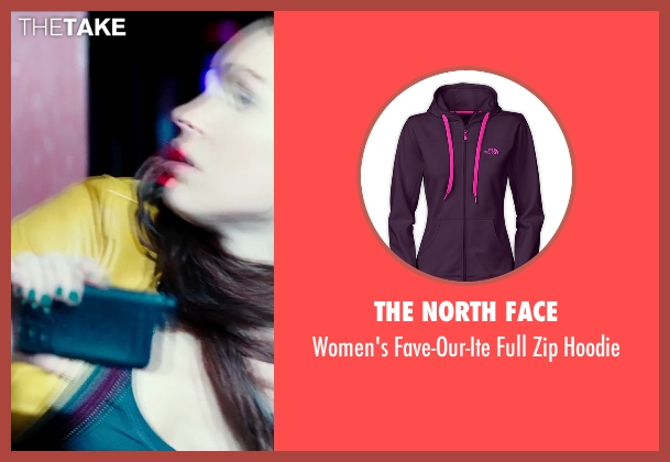 The North Face purple hoodie from Teenage Mutant Ninja Turtles (2014) seen with Megan Fox (April O'Neil)