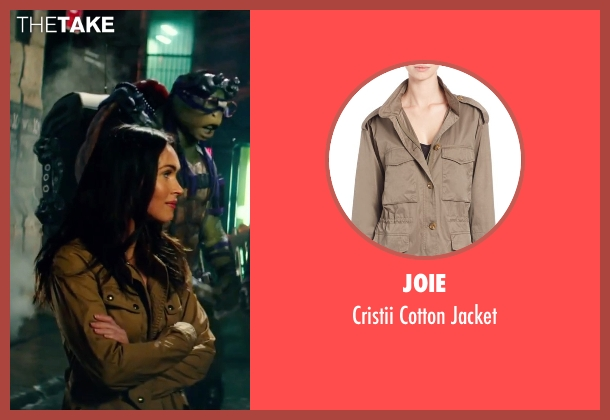 Joie beige jacket from Teenage Mutant Ninja Turtles: Out of the Shadows seen with Megan Fox (April O'Neil)
