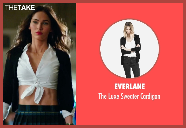 Everlane black cardigan from Teenage Mutant Ninja Turtles: Out of the Shadows seen with Megan Fox (April O'Neil)