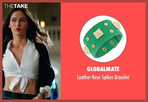 Megan Fox Globalmate Leather Rose Spikes Bracelet From