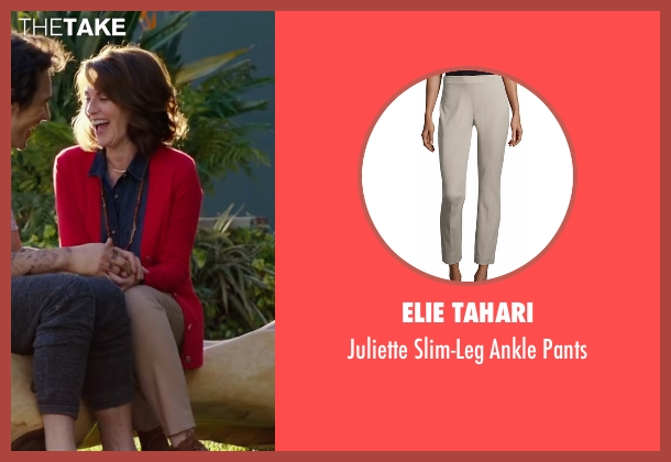 Elie Tahari beige pants from Why Him? seen with Megan Mullally (Barb Fleming)