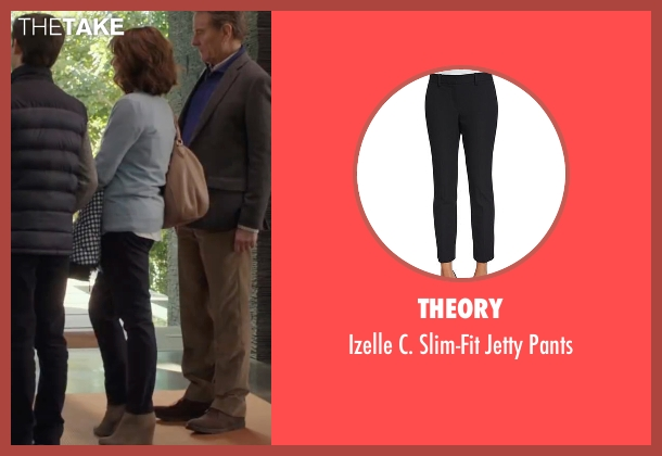 Theory black pants from Why Him? seen with Megan Mullally (Barb Fleming)