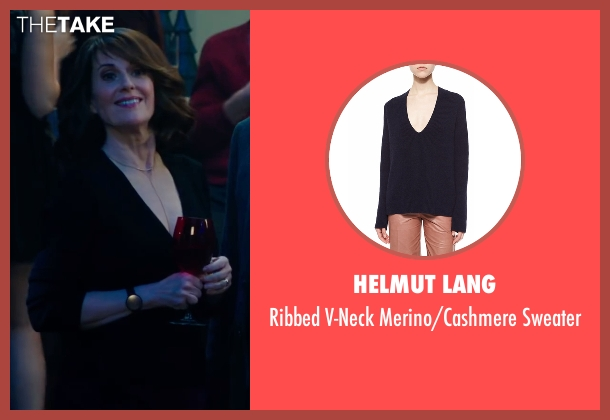 Helmut Lang black sweater from Why Him? seen with Megan Mullally (Barb Fleming)