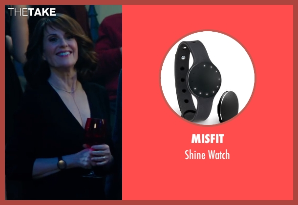 Misfit black watch from Why Him? seen with Megan Mullally (Barb Fleming)