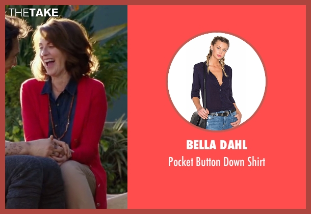 Bella Dahl blue shirt from Why Him? seen with Megan Mullally (Barb Fleming)