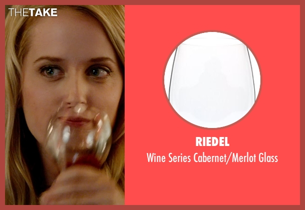 Riedel glass from What If seen with Megan Park (Dalia)