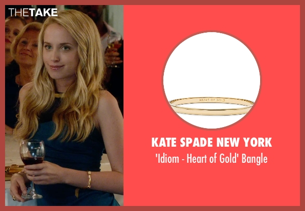 Kate Spade New York gold bangle from What If seen with Megan Park (Dalia)