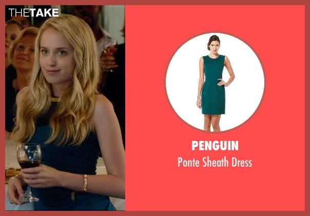 Penguin green dress from What If seen with Megan Park (Dalia)