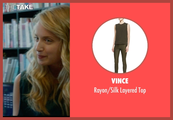 Vince green top from What If seen with Megan Park (Dalia)
