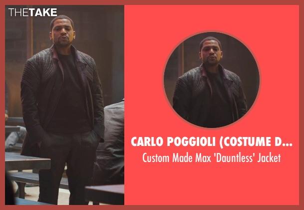 Carlo Poggioli (Costume Designer) black jacket from Divergent seen with Mekhi Phifer (Max)