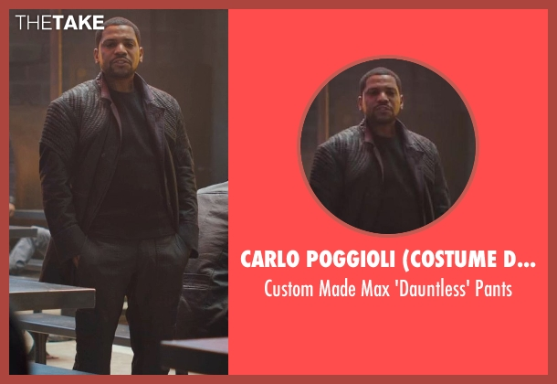 Carlo Poggioli (Costume Designer) black pants from Divergent seen with Mekhi Phifer (Max)