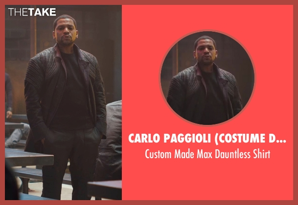 Carlo Paggioli (Costume Designer) black shirt from Divergent seen with Mekhi Phifer (Max)