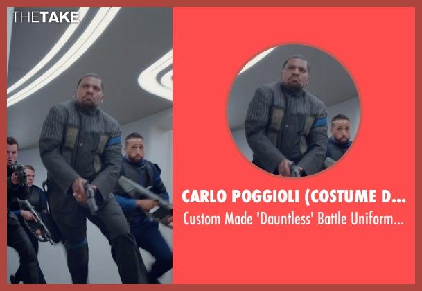 Carlo Poggioli (Costume Designer) black jacket from The Divergent Series: Insurgent seen with Mekhi Phifer (Max)