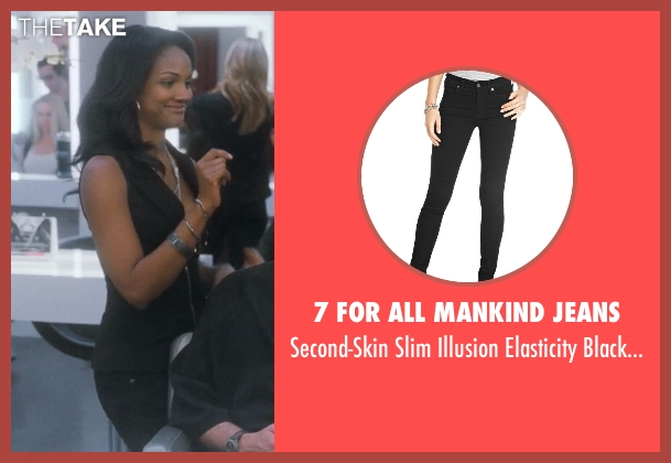 7 For All Mankind Jeans black jeans from Crazy, Stupid, Love. seen with Mekia Cox (Tiffany)