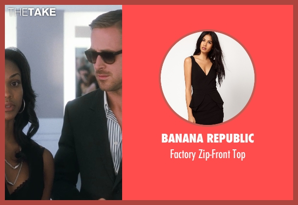 Banana Republic black top from Crazy, Stupid, Love. seen with Mekia Cox (Tiffany)