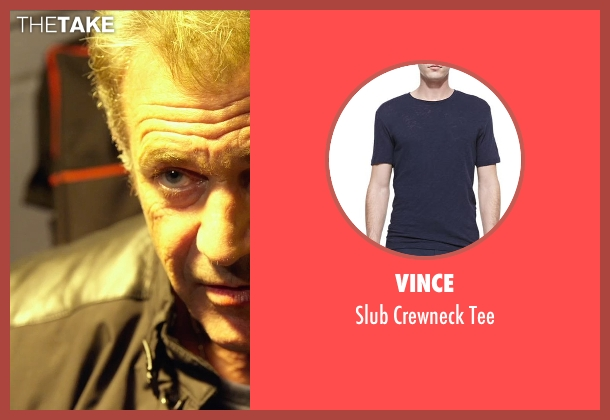 Vince blue tee from The Expendables 3 seen with Mel Gibson (Stonebanks)