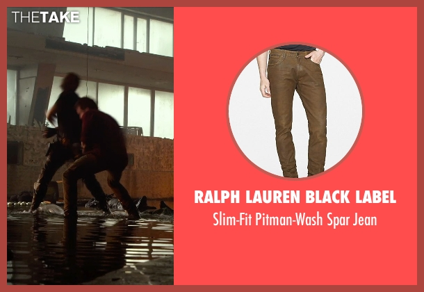 Ralph Lauren Black Label brown jean from The Expendables 3 seen with Mel Gibson (Stonebanks)