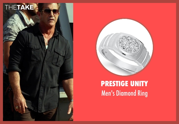 Prestige Unity gold ring from The Expendables 3 seen with Mel Gibson (Stonebanks)