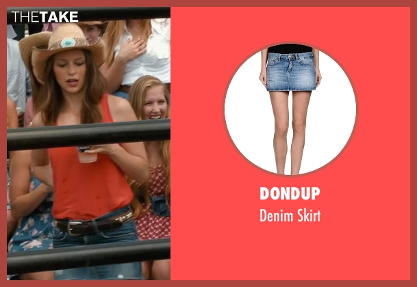 Dondup blue skirt from The Longest Ride seen with Melissa Benoist (Marcia)