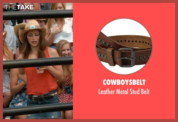 Cowboysbelt brown belt from The Longest Ride seen with Melissa Benoist (Marcia)