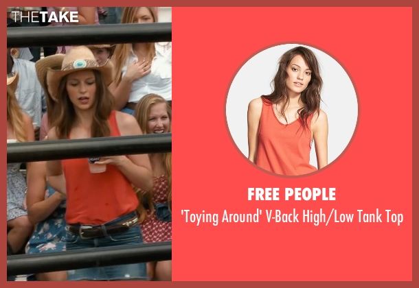 Free People red top from The Longest Ride seen with Melissa Benoist (Marcia)