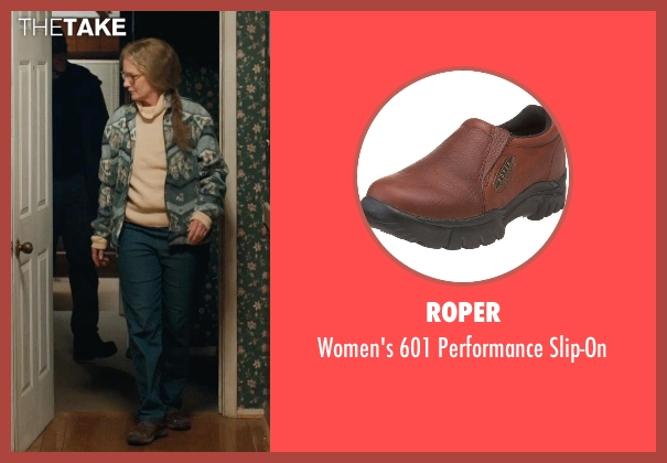 Roper brown slip-on from Prisoners seen with Melissa Leo (Holly Jones)