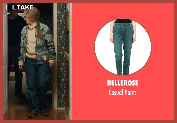 Bellerose green pants from Prisoners seen with Melissa Leo (Holly Jones)
