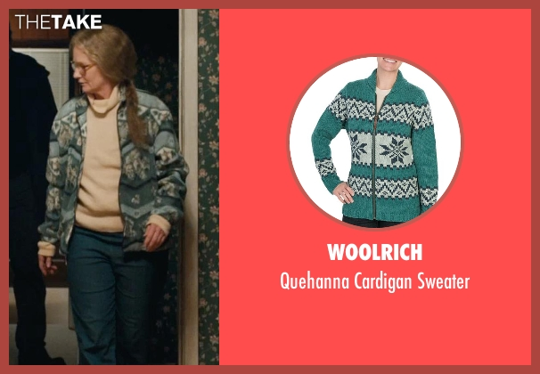 Woolrich green sweater from Prisoners seen with Melissa Leo (Holly Jones)