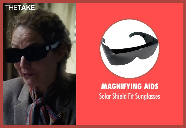 Magnifying Aids black sunglasses from The Big Short seen with Melissa Leo (Georgia Hale)