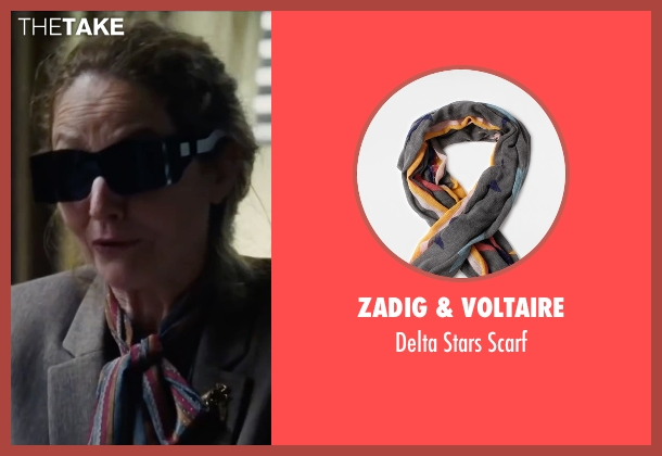 Zadig & Voltaire blue scarf from The Big Short seen with Melissa Leo (Georgia Hale)