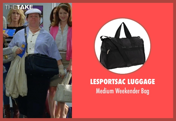 LeSportsac Luggage black bag from Bridesmaids seen with Melissa McCarthy (Megan Price)