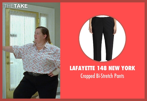 Lafayette 148 New York black pants from Bridesmaids seen with Melissa McCarthy (Megan Price)