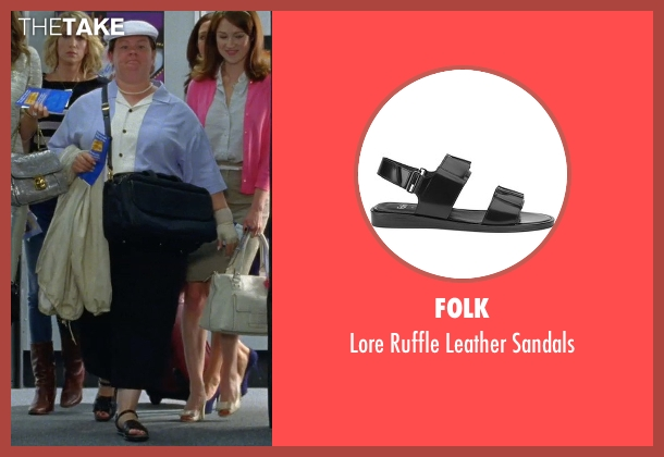 Folk black sandals from Bridesmaids seen with Melissa McCarthy (Megan Price)