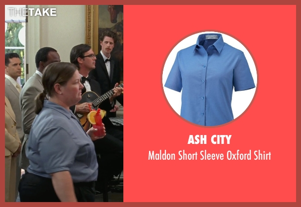 Ash City blue shirt from Bridesmaids seen with Melissa McCarthy (Megan Price)