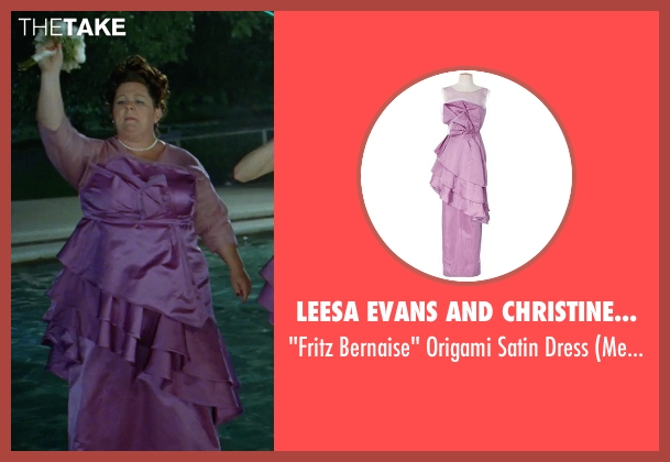 Leesa Evans and Christine Wada (Costume Designers) purple dress from Bridesmaids seen with Melissa McCarthy (Megan Price)