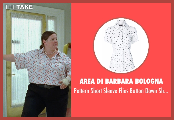 Area Di Barbara Bologna white shirt from Bridesmaids seen with Melissa McCarthy (Megan Price)