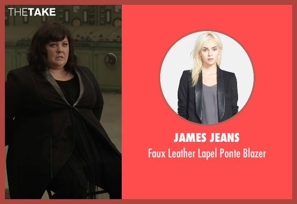 James Jeans black blazer from Spy seen with Melissa McCarthy (Susan Cooper)
