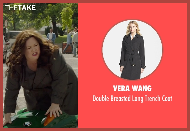 Vera Wang black coat from Spy seen with Melissa McCarthy (Susan Cooper)