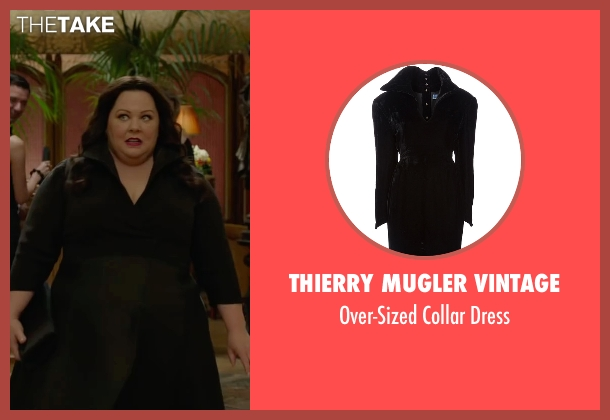 Thierry Mugler Vintage black dress from Spy seen with Melissa McCarthy (Susan Cooper)