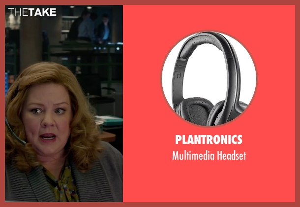Plantronics black headset from Spy seen with Melissa McCarthy (Susan Cooper)
