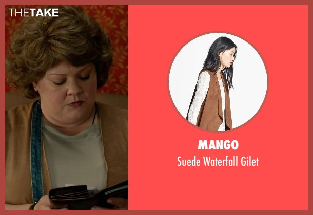Mango brown gilet from Spy seen with Melissa McCarthy (Susan Cooper)