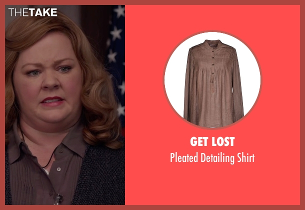 Get Lost brown shirt from Spy seen with Melissa McCarthy (Susan Cooper)