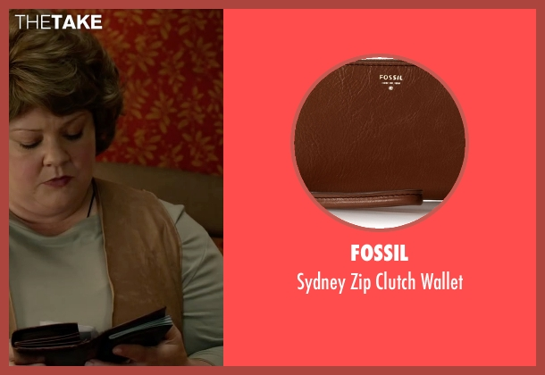 Fossil brown wallet from Spy seen with Melissa McCarthy (Susan Cooper)
