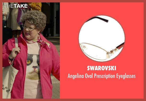 Swarovski gold eyeglasses from Spy seen with Melissa McCarthy (Susan Cooper)