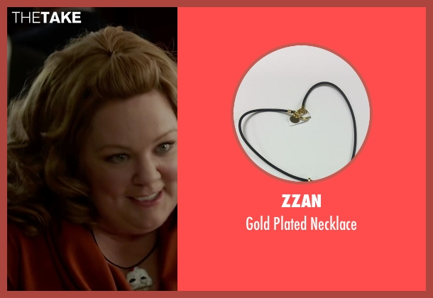 Zzan gold necklace from Spy seen with Melissa McCarthy (Susan Cooper)