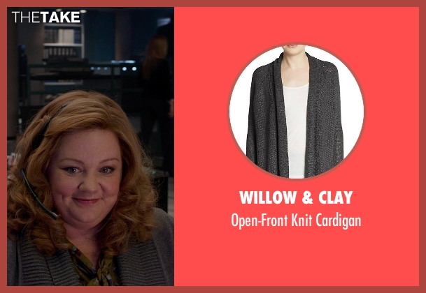 Willow & Clay gray cardigan from Spy seen with Melissa McCarthy (Susan Cooper)