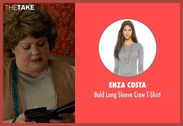 Enza Costa gray t-shirt from Spy seen with Melissa McCarthy (Susan Cooper)