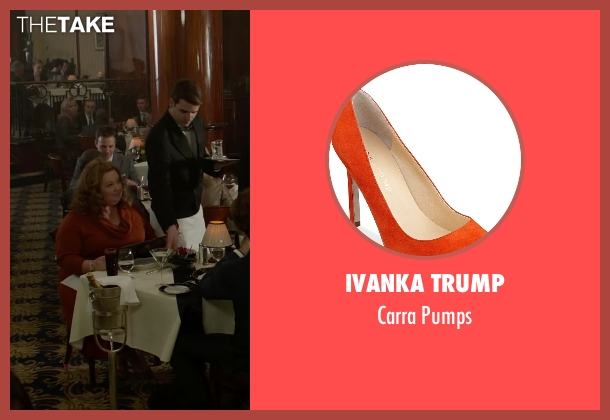 Ivanka Trump orange pumps from Spy seen with Melissa McCarthy (Susan Cooper)