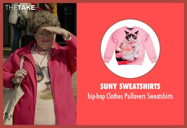 Suny Sweatshirts pink sweatshirts from Spy seen with Melissa McCarthy (Susan Cooper)